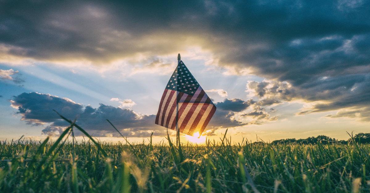U.S. Flag in Summer